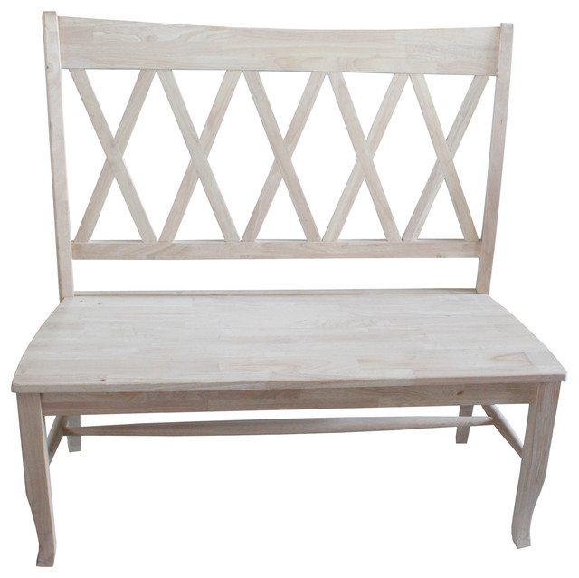 Double X Back Bench Farmhouse Accent And Storage Benches By International Concepts