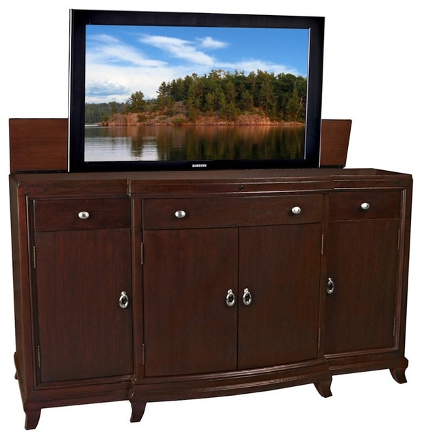 Ashford Manor Lift Top TV Cabinet Entertainment Centers And Tv Stands