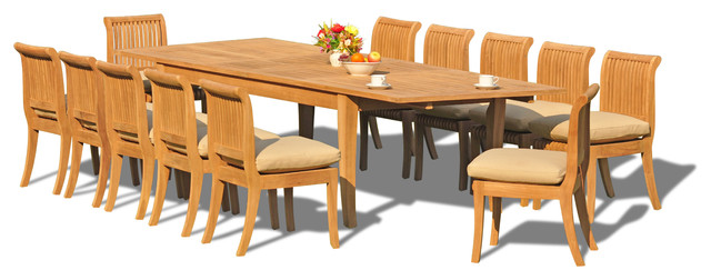13 piece set 118 rectangle table 12 giva chairs for 13 piece dining table set