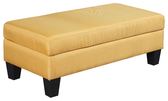 Classic Large Fabric Rectangular Ottoman Bench