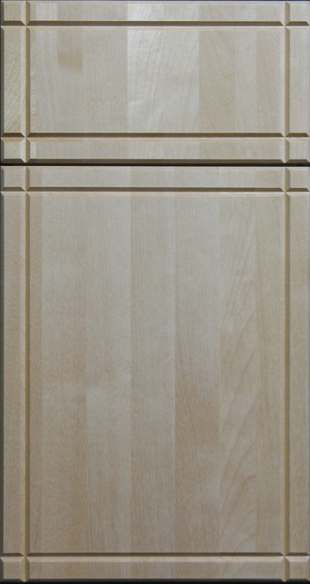 Solid Clear Birch Cabinet Door With V Grooves