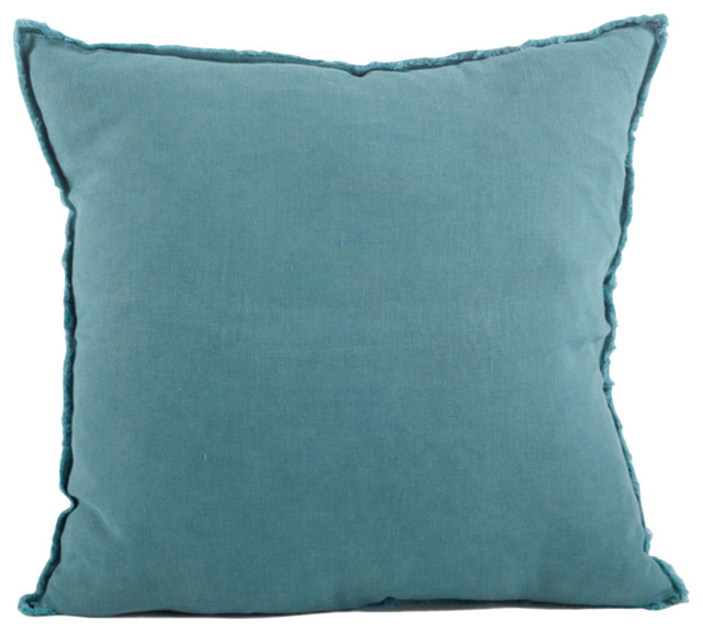 Decorative Pillows Down Filled : Fenncostyles.com - Fringed Design Down FIlled Linen 20