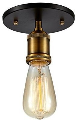 Edison Vintage Ceiling Light -Bulb Included ,antique Brass.