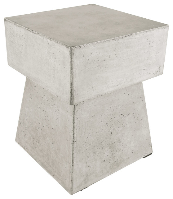 Dimond Home 157 019 Mushroom Waxed Concrete Stool Industrial Accent And  Garden