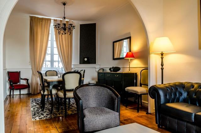 d coration d 39 un s jour salon n oclassique classique chic brest par lucile treguer. Black Bedroom Furniture Sets. Home Design Ideas