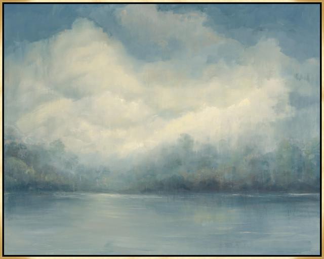 "Mother Sky, 69.25""x55.25"", Gold Leaf Gallery Float."