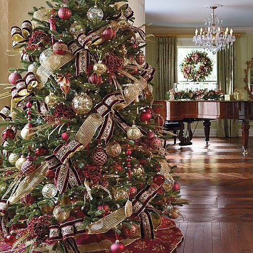 Medici Decor Kit with 9' Noble Fir Tree - Christmas Decorations