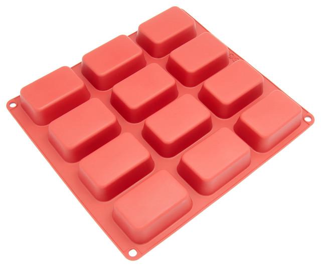 Freshware 12-Cavity Silicone Petite Loaf Mold.
