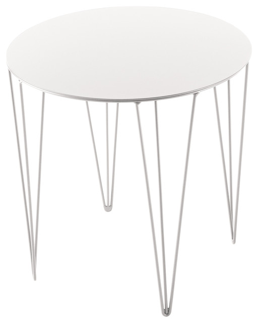 Chele Rounded Coffee Table, Signal White.