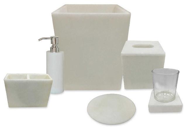 Alabaster Bath Accessories 7 Piece Set Bathroom Accessory Sets By Kasabo