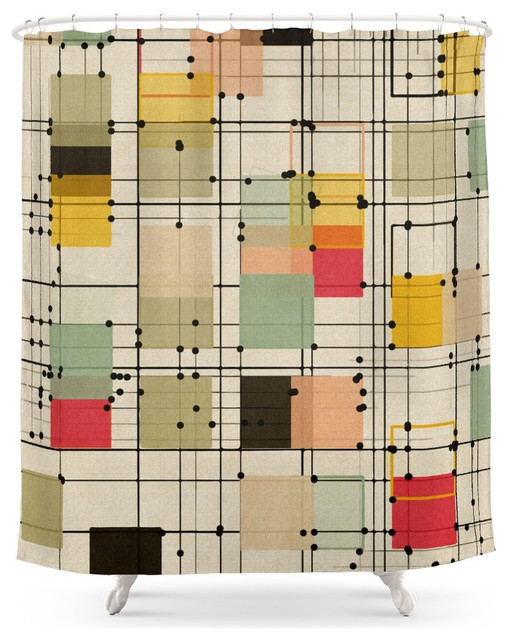 Society6 Embrace Uncertainty Shower Curtain Midcentury Shower Curtains