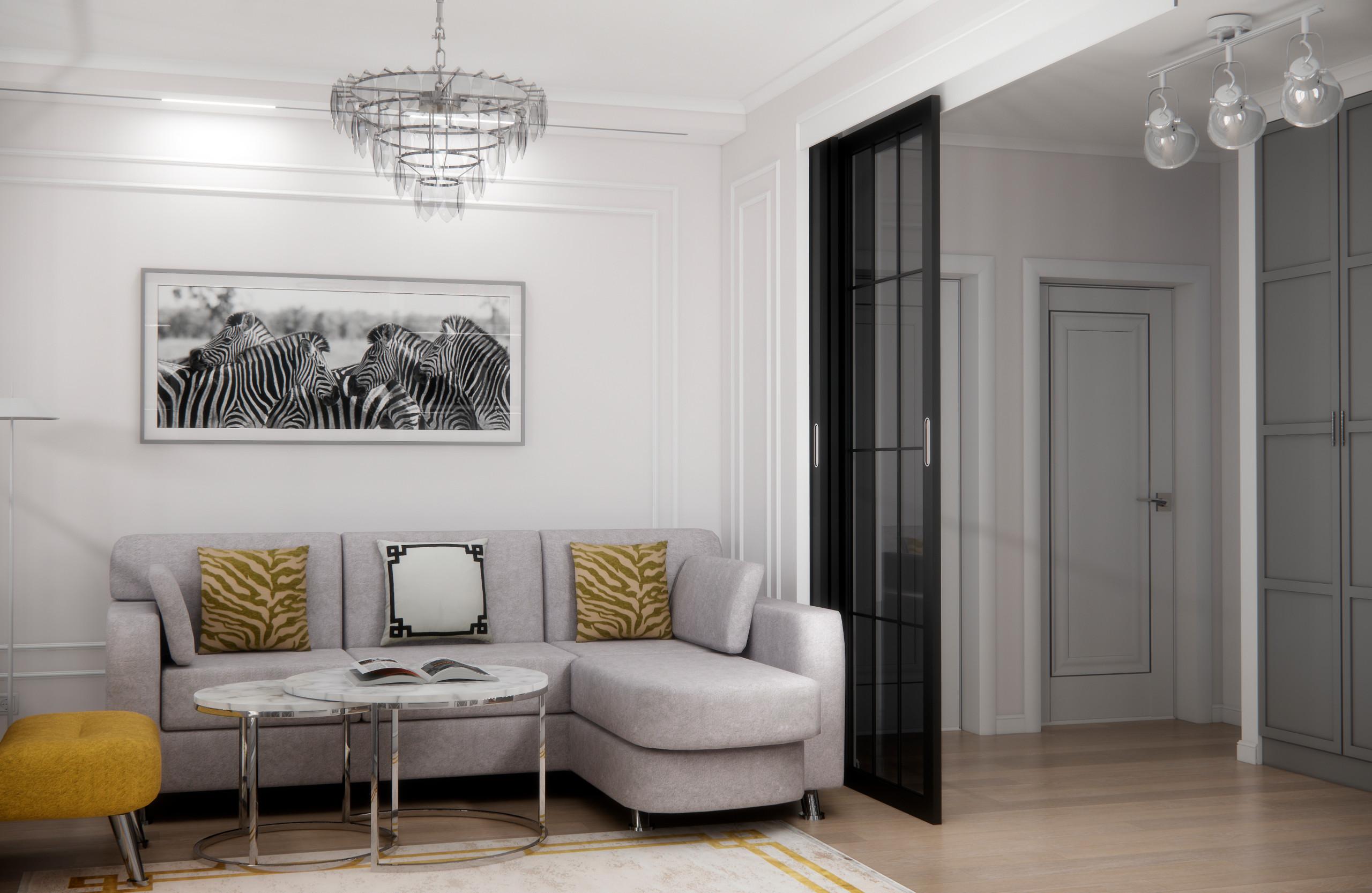 Гостиная, холл и балкон, Нарвская