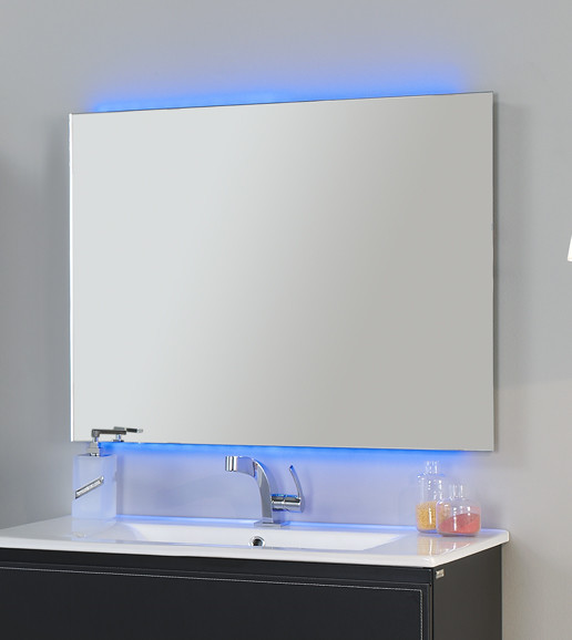 "led frameless mirror chromatherapy 32"" with remote control and"