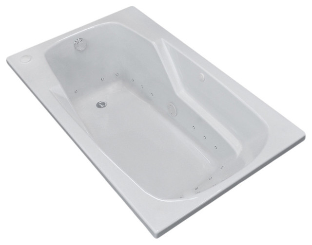 "Eros 36""x72"" Rectangular Air Jetted Bathtub, Right."