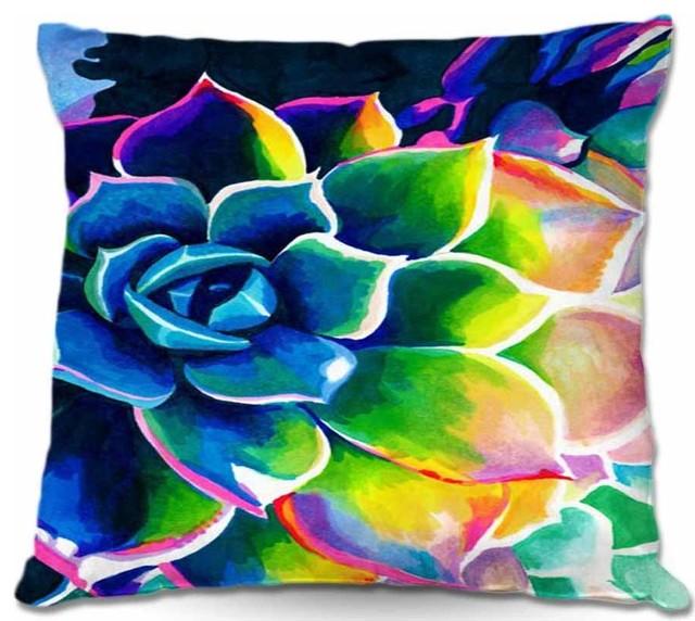 Outdoor Pillow Supplication Succulent Contemporary