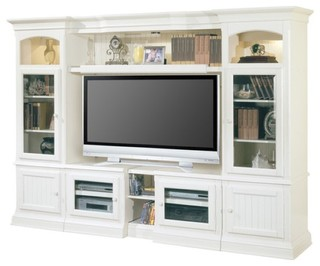 Hartford Entertainment Center, White   Beach Style   Entertainment Centers  And Tv Stands   By Warehouse Direct USA