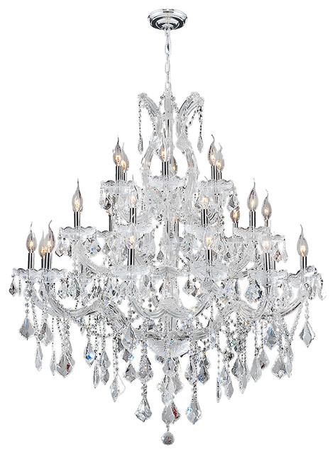 Worldwide Lighting Maria Theresa 28 Light Chrome Finish Crystal