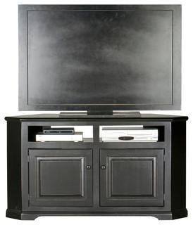 "Eagle Furniture 56"" Savannah Corner Entertainment Console, Iron Ore"