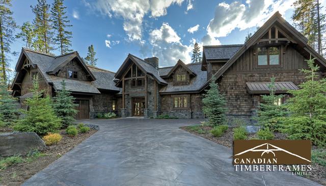 Custom timber frame homes for Timber frame exteriors