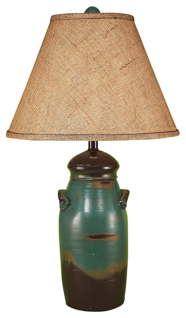 Small Slender Crock Farmhouse Table Lamps by HedgeApple