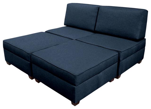 """Duobed King Sleeper Sofa 72""""x72""""."""