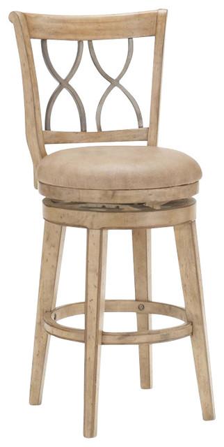 Surprising Hillsdale Reydon 30 Swivel Bar Stool In White Wash Inzonedesignstudio Interior Chair Design Inzonedesignstudiocom