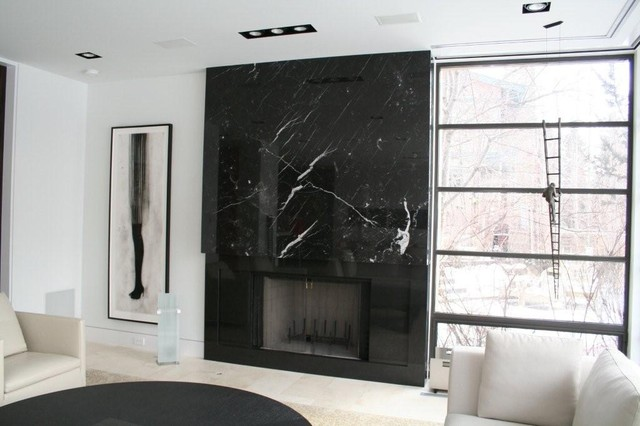 Marble Fireplace Surround - Calgary - by Pacific Stone Fabrication