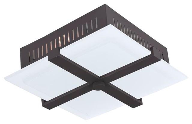 Shop Millennium Lighting 3 Light Neo Industrial Rubbed: Livex Lighting Odyssey Ceiling Mount