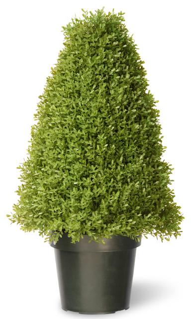 "30"" Boxwood Tree With Green Pot"
