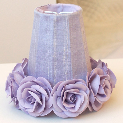 Lavender with Roses Chandelier Shade traditional children lighting