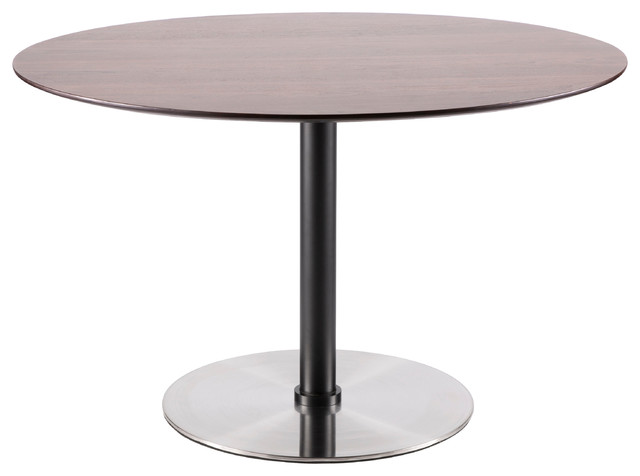 Lumisource Dillon Dining Table, Black and Walnut