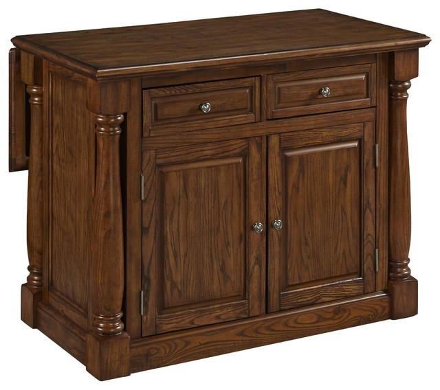 monarch kitchen island with wood top oak traditional home styles 500 monarch kitchen island atg stores