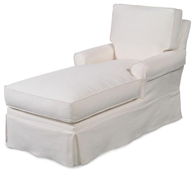 Custom Slipcovered Chaise Camden Traditional Indoor