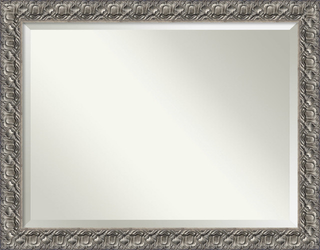 """Wall Mirror Oversize Large, Silver Luxor: Outer Size 46 X 36""""."""