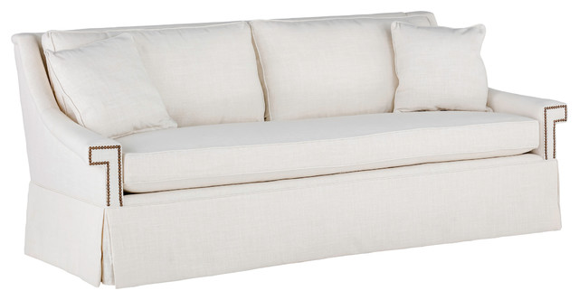 Gabby Jacyln Bench Cushion Sofa, Cream Zulu Vanilla.
