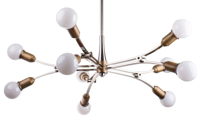 Miseno MLIT155059 10 Light Mid-Century Modern Chandelier ...