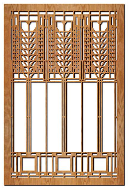 Frank Lloyd Wright Triple Tree Of Life Hardwood Wall Panel Cherry