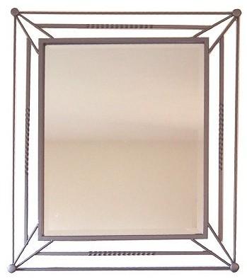Star Beveled Wrought Iron Mirror