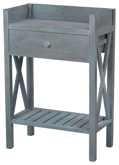 Sterling Biscayne Beachcomber Blue Side Table By 137 009