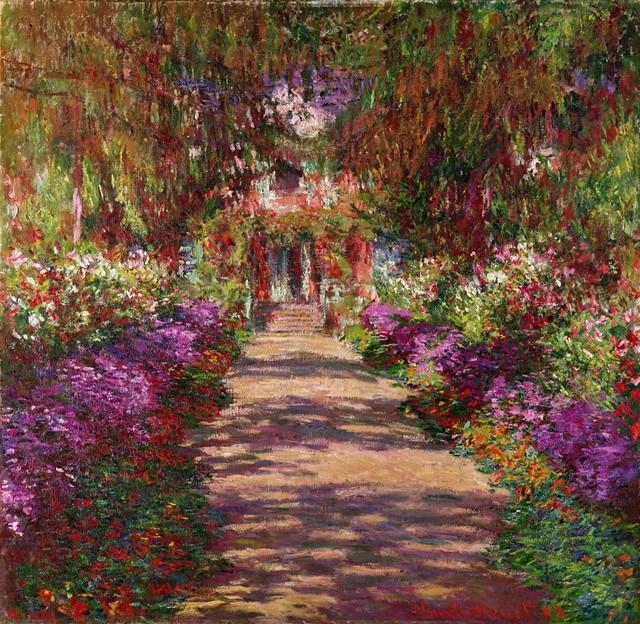 Pathway In Monet S Garden Wall Mural 28 X36