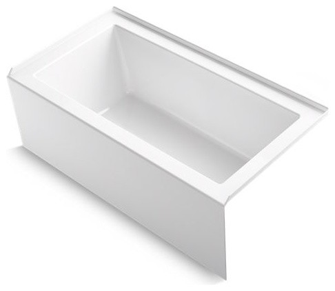 "Kohler Underscore 60"" X 32"" Alcove Bath w/ Right-Hand Drain, White"