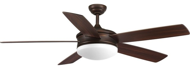 "Fresno Collection 60"" 5 Blade Plywood, Antique Bronze."