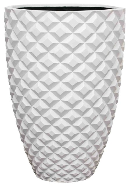 Kasamoderndesign Modern White Round Planter Pot View