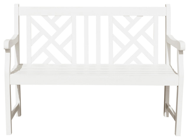 Bradley Eco Friendly 4 Outdoor White Wood Garden Bench