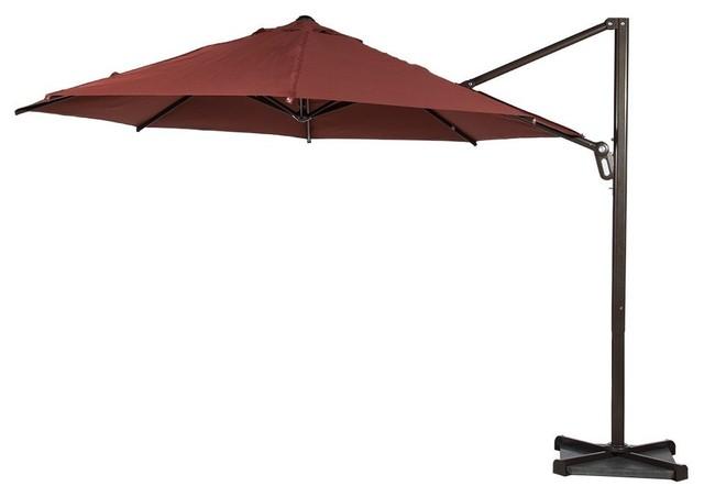 Superbe Abba Patio 11u0027 Octagon Cantilever Vented Tilt Patio Umbrella, Dark Red