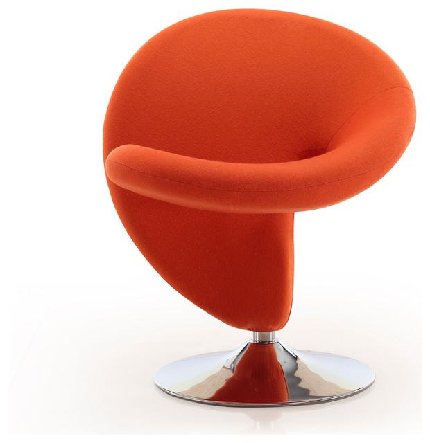 Curl Leisure Chair, Orange by CEETS