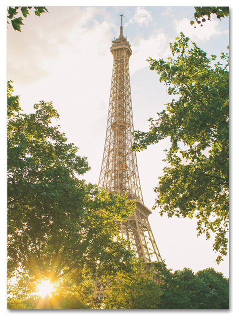 Ariane Moshayedi Eiffel Tower Sunset Canvas Art Contemporary Prints And Posters By Trademark Global