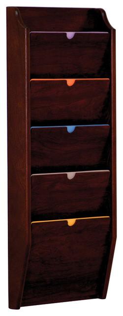 Wooden Mallet 5 Pocket Privacy Letter Size Chart Holder ...