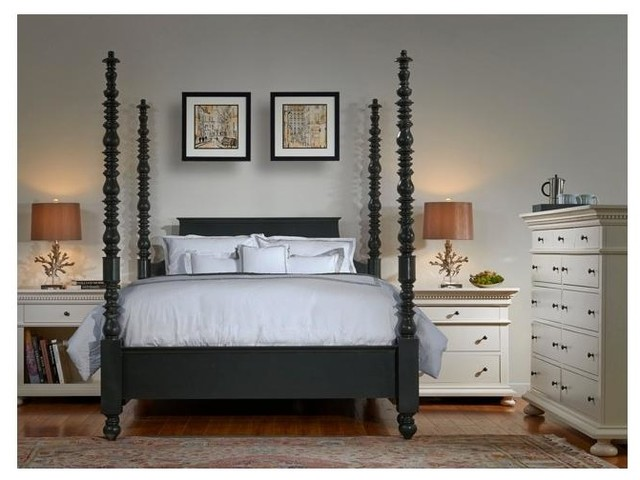Tall Post Spindle Bed (Queen) traditional-canopy-beds & Bebe Furniture - Tall Post Spindle Bed (Queen) u0026 Reviews | Houzz