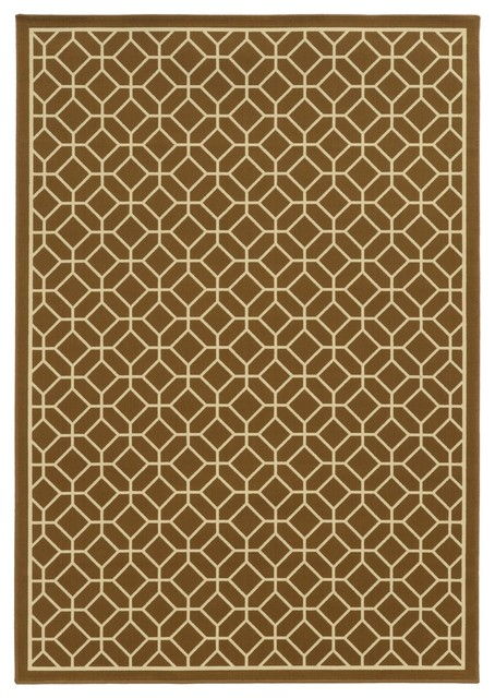 Oriental Weavers Riviera Brown-Ivory 5&x27;3x7&x27;6 Area Rug.